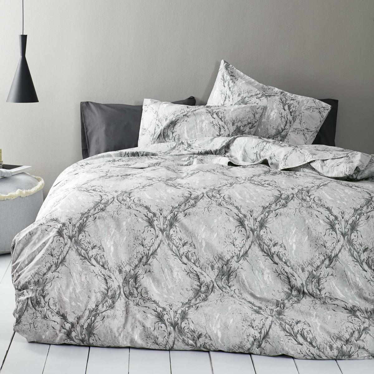 Σεντόνια Υπέρδιπλα (Σετ) Nima Bed Linen Romano Grey