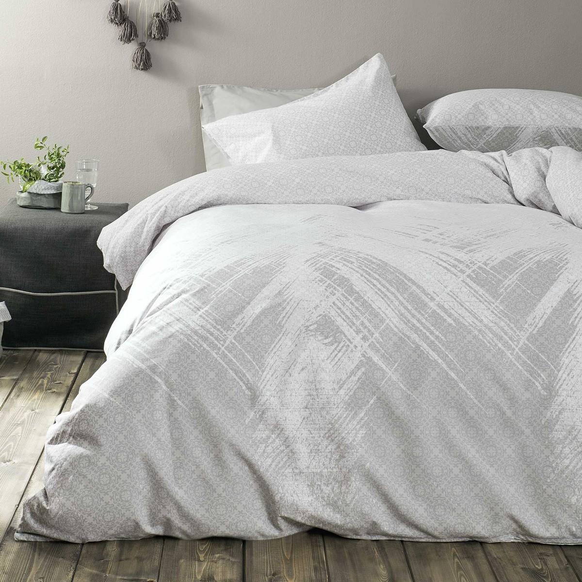 Σεντόνια Υπέρδιπλα (Σετ) Nima Bed Linen Portoro Grey ΧΩΡΙΣ ΛΑΣΤΙΧΟ ΧΩΡΙΣ ΛΑΣΤΙΧΟ