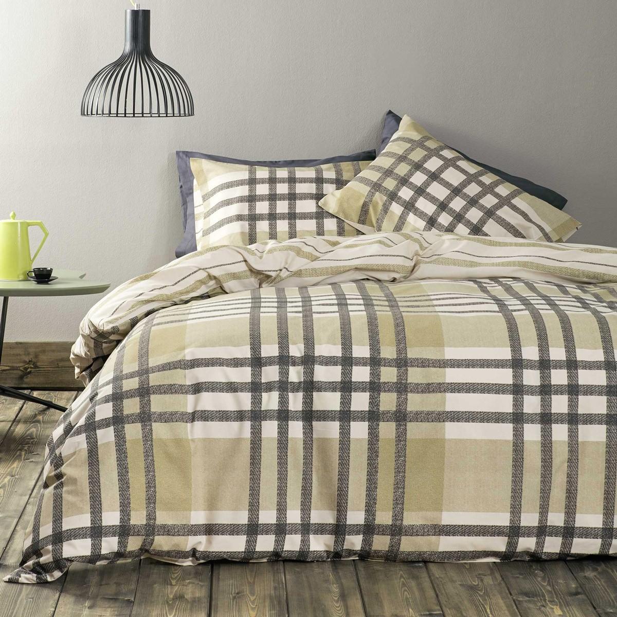 Παπλωματοθήκη Υπέρδιπλη (Σετ) Nima Bed Linen Bardi Green