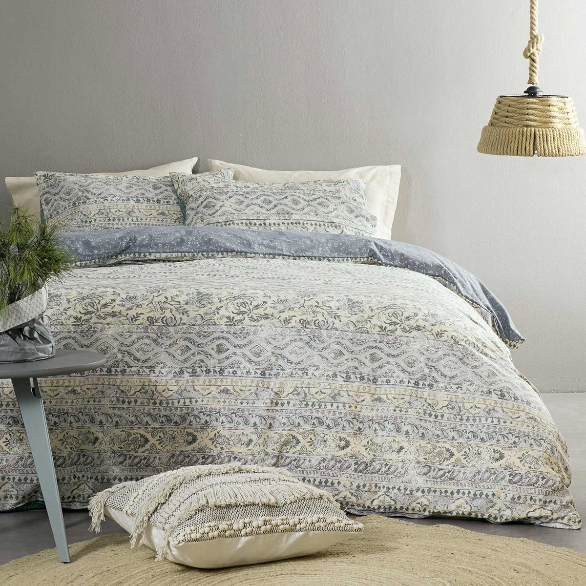 Παπλωματοθήκη Μονή (Σετ) Nima Bed Linen Cadabria