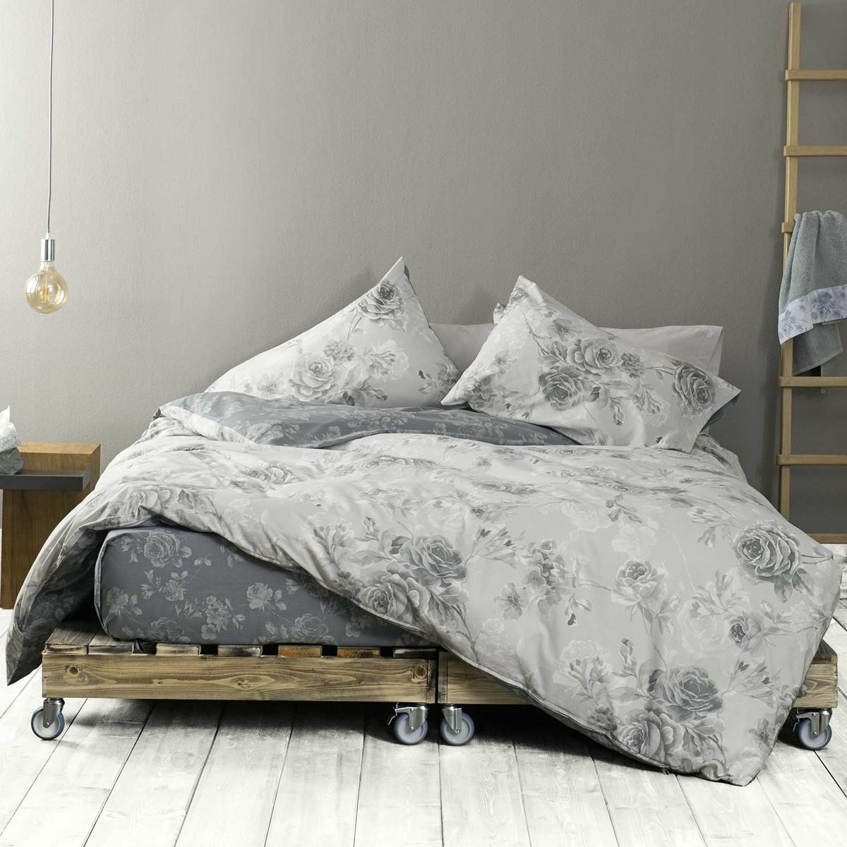 Σεντόνια Ημίδιπλα (Σετ) Nima Bed Linen Carmen Grey
