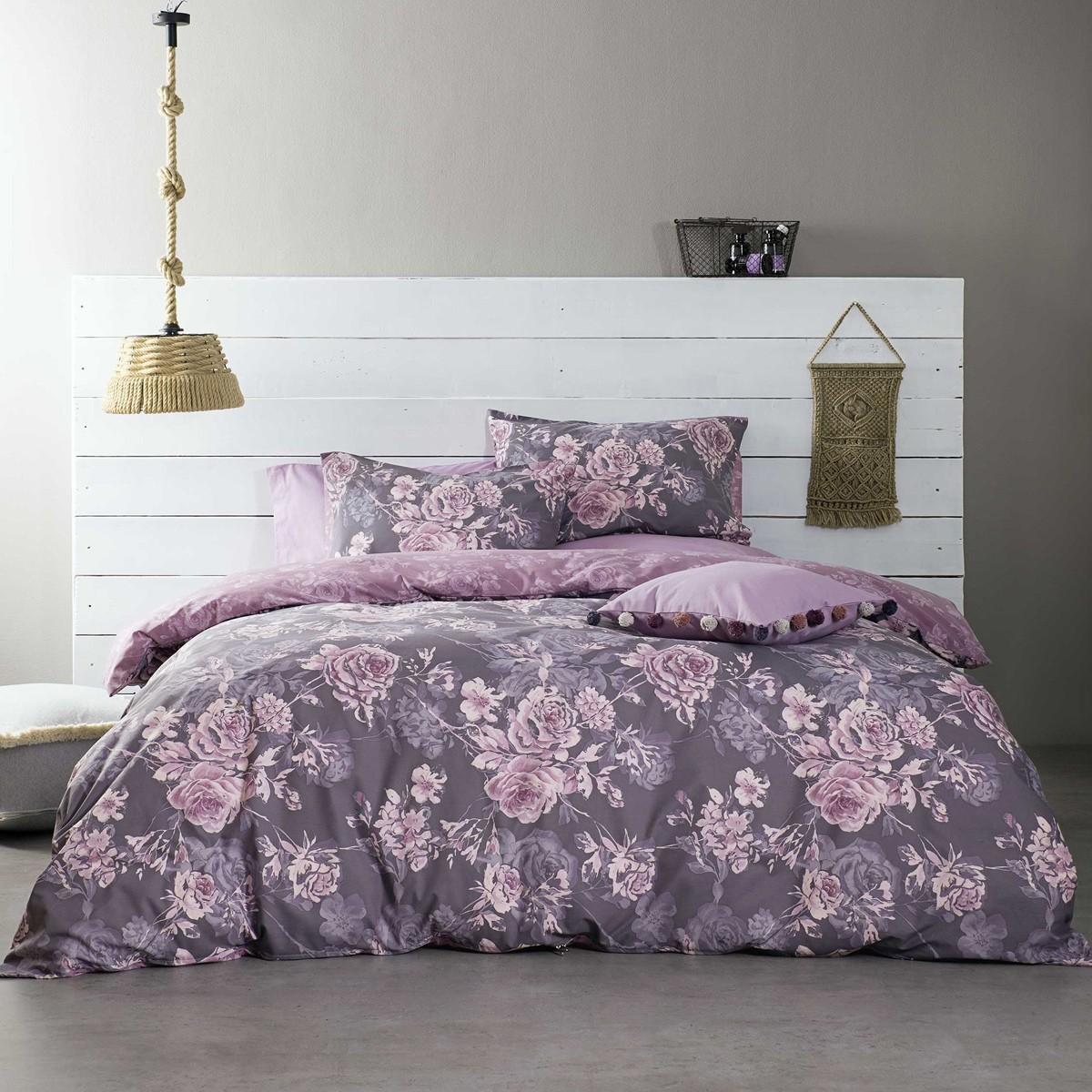Σεντόνια Υπέρδιπλα (Σετ) Nima Bed Linen Carmen Purple ΧΩΡΙΣ ΛΑΣΤΙΧΟ ΧΩΡΙΣ ΛΑΣΤΙΧΟ