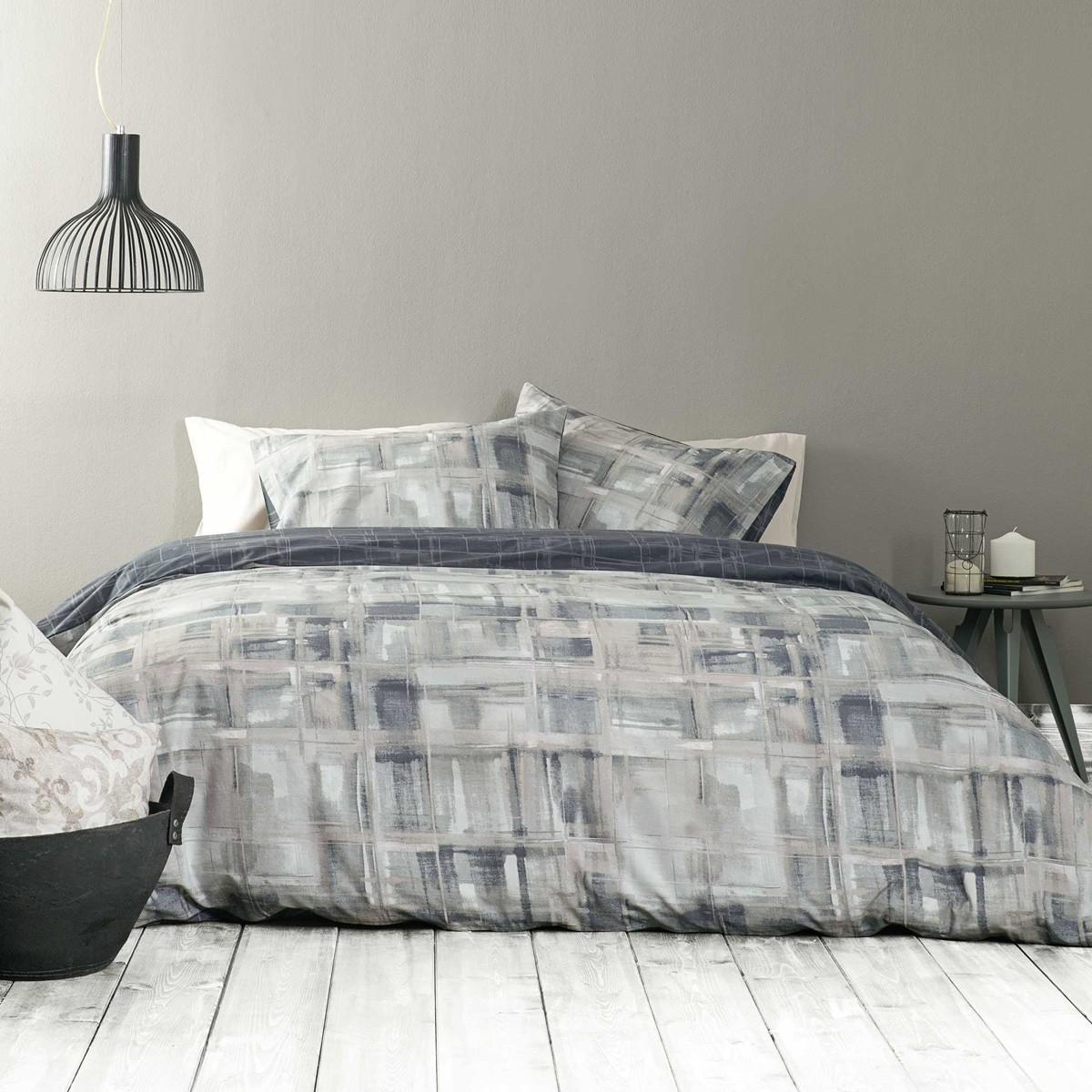 Σεντόνια Υπέρδιπλα (Σετ) Nima Bed Linen Fianchetto Grey ΧΩΡΙΣ ΛΑΣΤΙΧΟ ΧΩΡΙΣ ΛΑΣΤΙΧΟ
