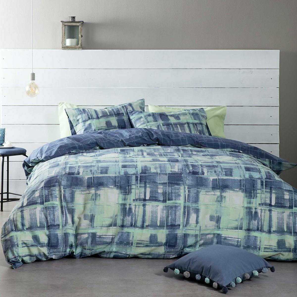 Παπλωματοθήκη Υπέρδιπλη (Σετ) Nima Bed Linen Fianchetto Blue