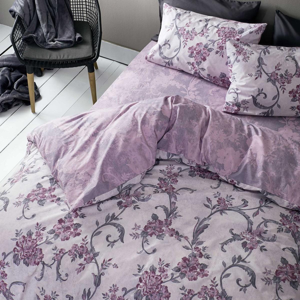 Παπλωματοθήκη Υπέρδιπλη (Σετ) Nima Bed Linen Segovia Purple