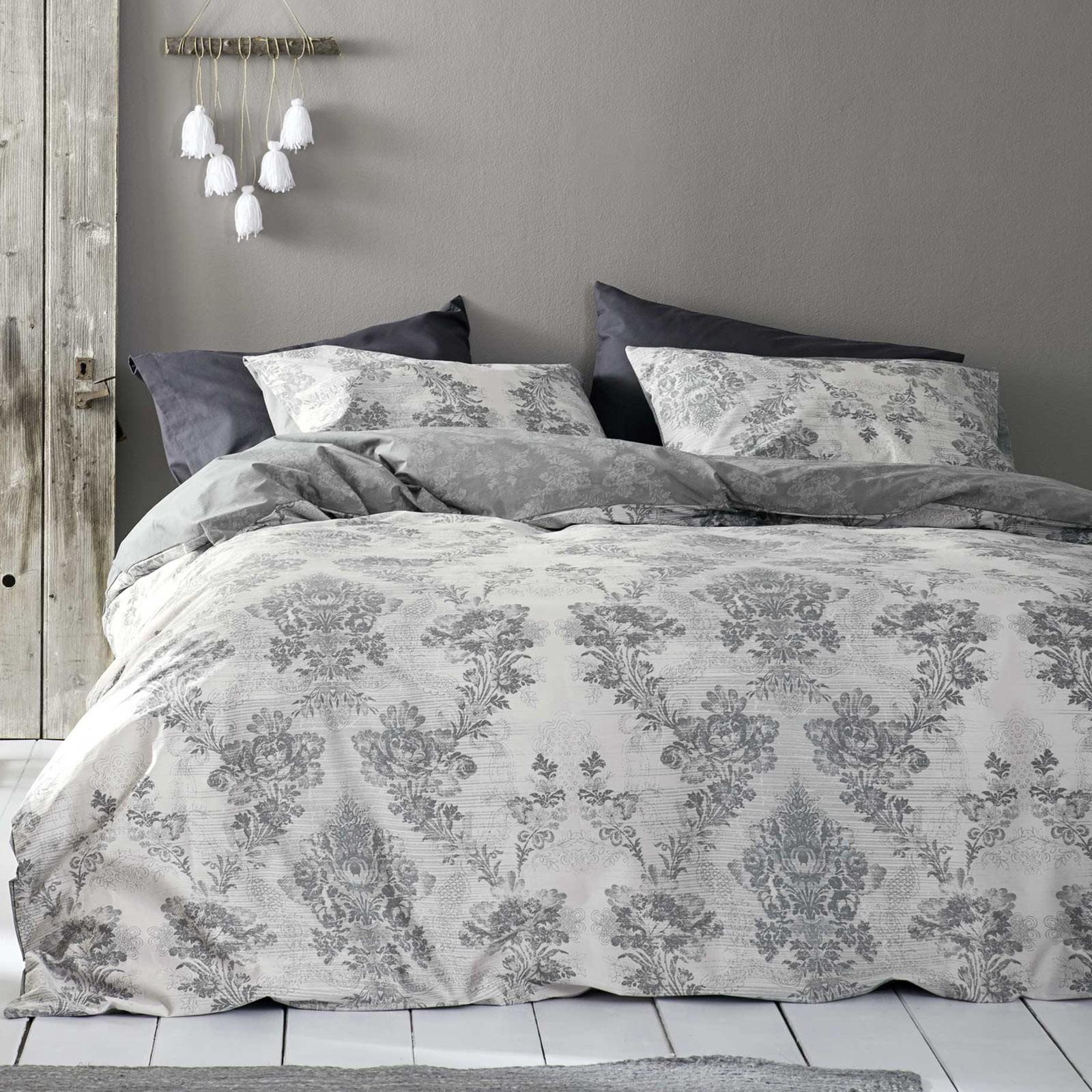 Παπλωματοθήκη Μονή (Σετ) Nima Bed Linen Kiana Grey