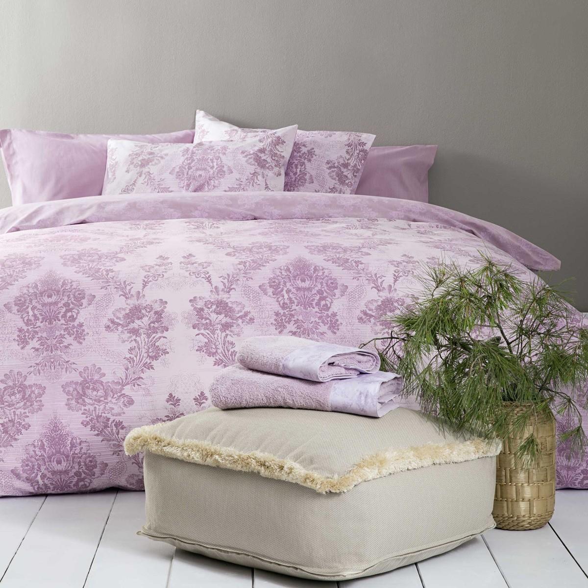 Παπλωματοθήκη Υπέρδιπλη (Σετ) Nima Bed Linen Kiana Pink