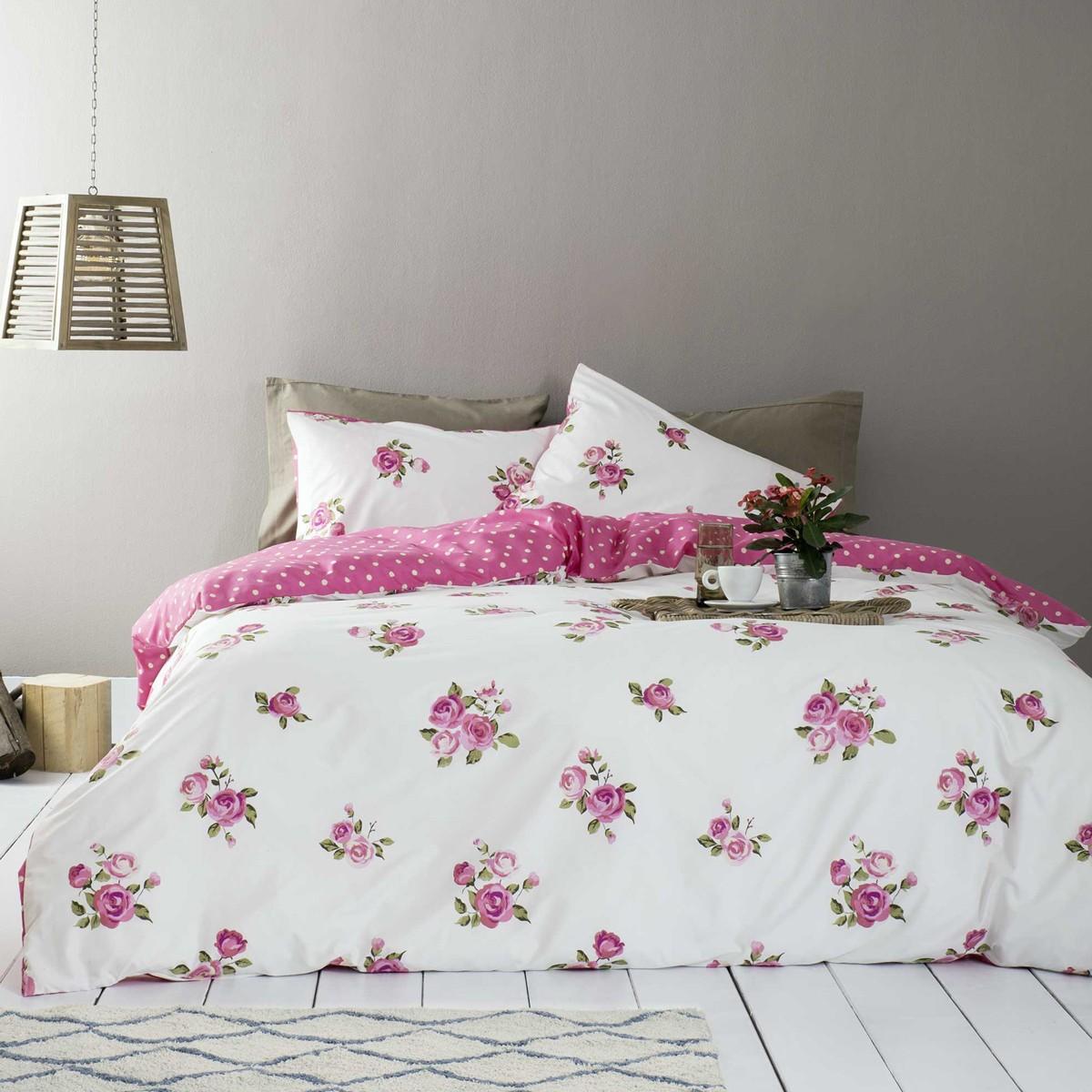 Παπλωματοθήκη Υπέρδιπλη (Σετ) Nima Bed Linen Old Garden