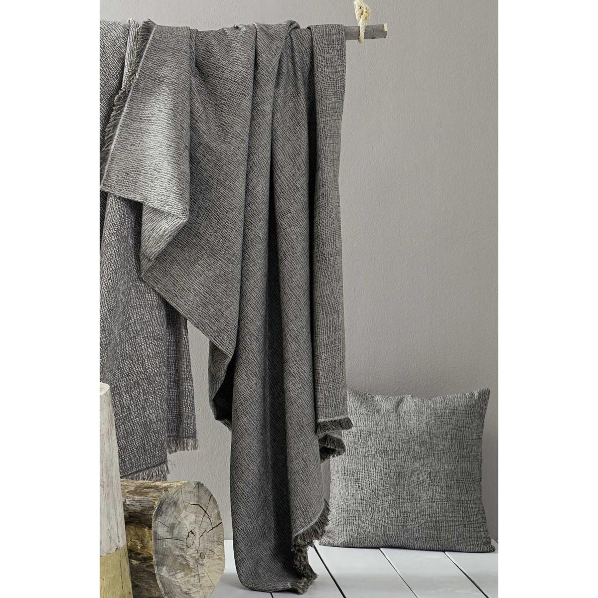 Ριχτάρι Πολυθρόνας (180x180) Nima Throws Fenzi Grey