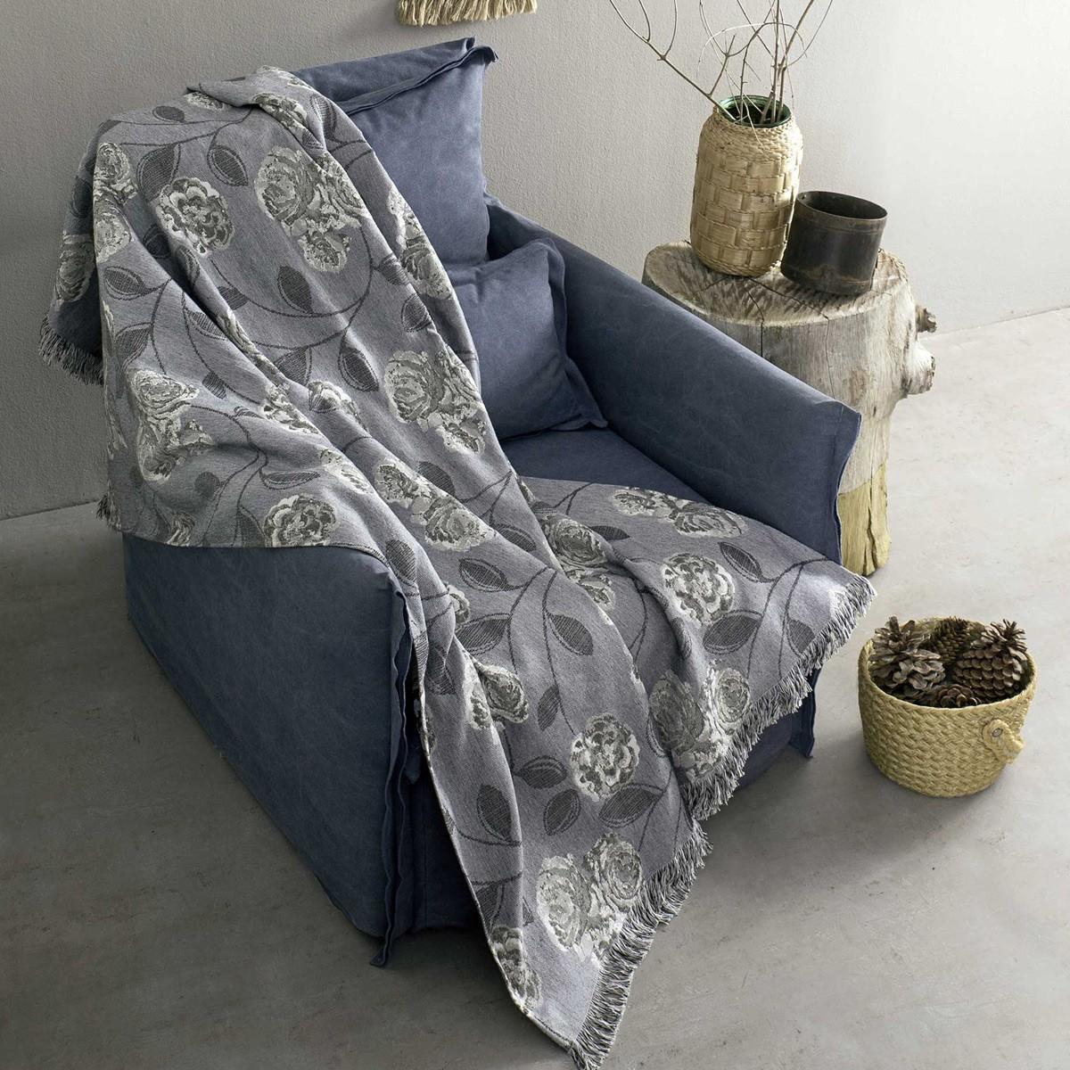Ριχτάρι Τριθέσιου (180x300) Nima Throws Carmen Grey