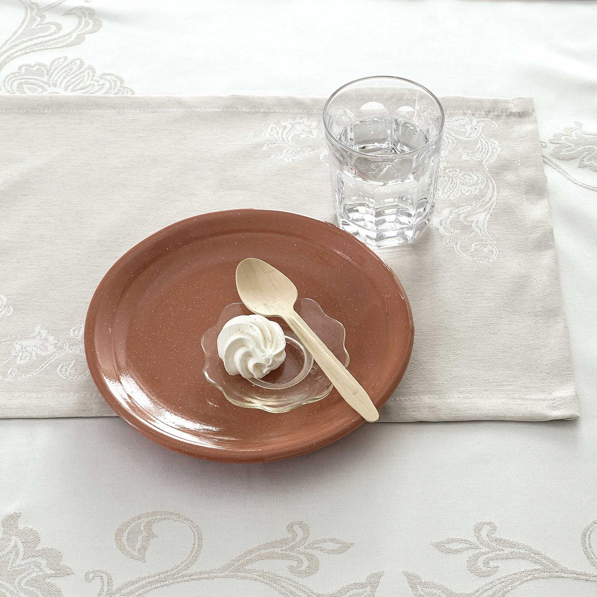 Σουπλά (Σετ 2τμχ) Nima Table Linen Elodie Beige