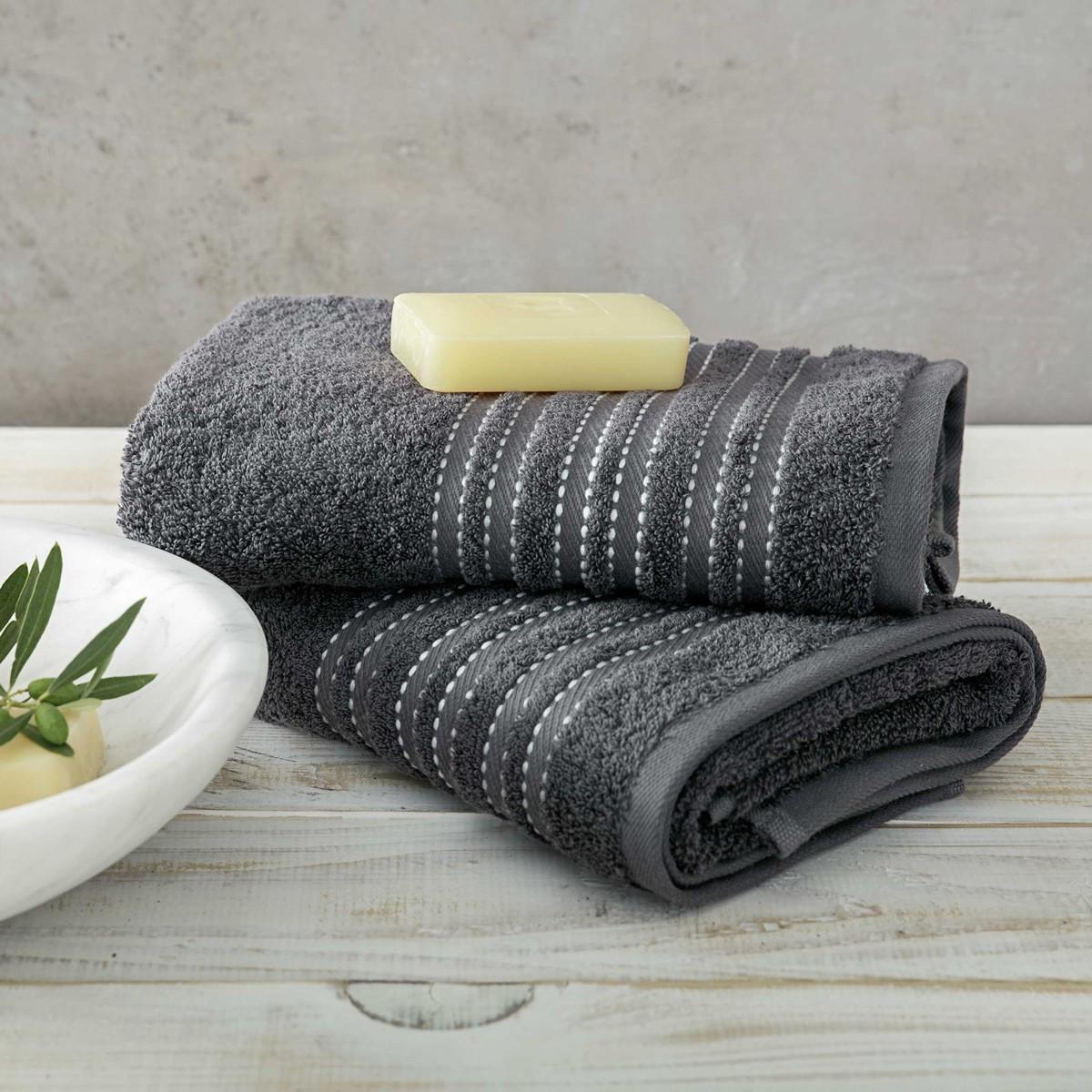 Πετσέτες Μπάνιου (Σετ 3τμχ) Nima Towels Grafito
