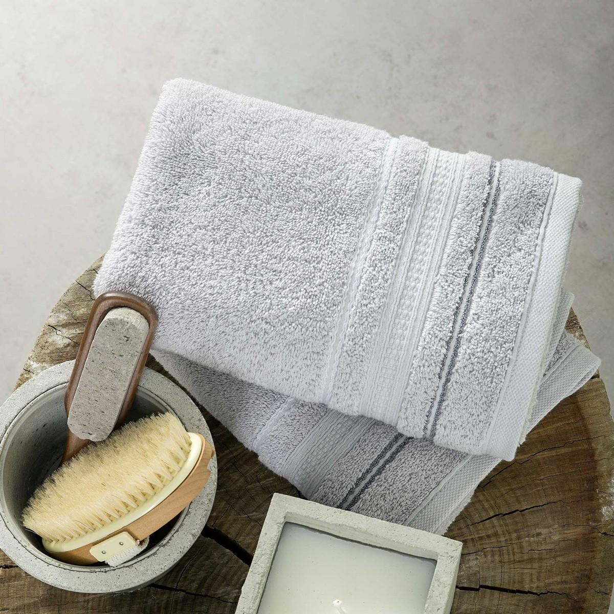 Πετσέτες Μπάνιου (Σετ 3τμχ) Nima Towels Silvero
