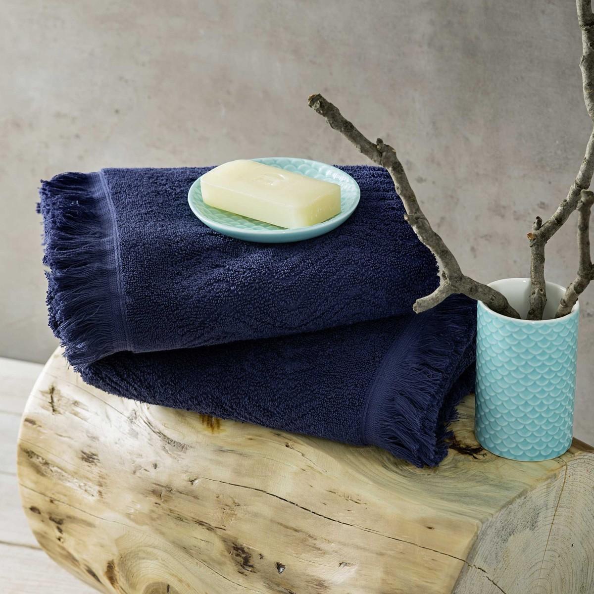 Πετσέτες Μπάνιου (Σετ 3τμχ) Nima Towels Indigo