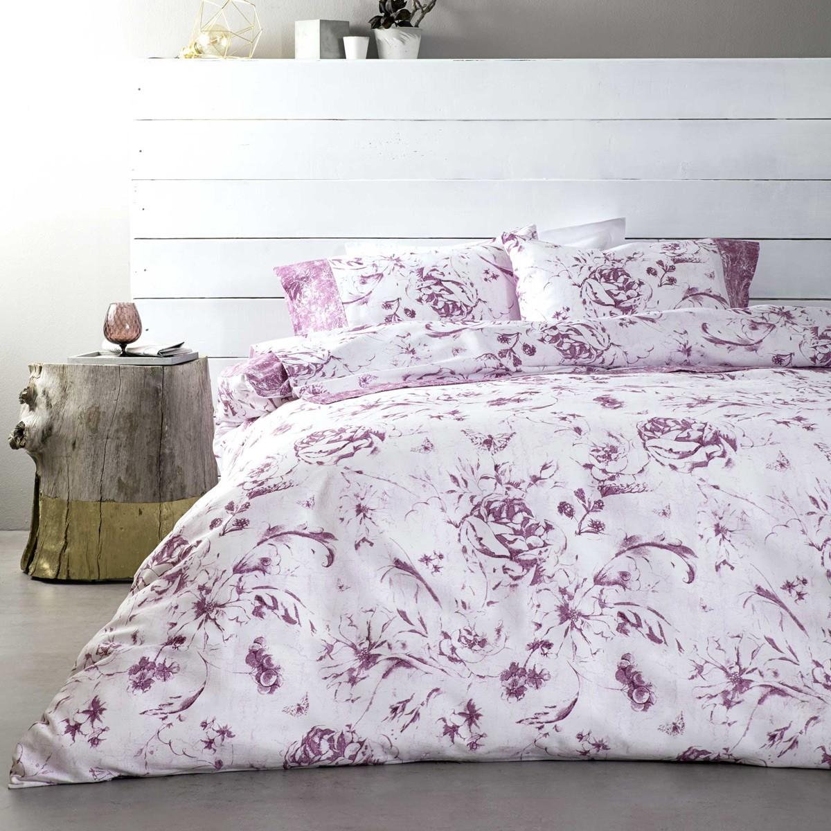 Παπλωματοθήκη Υπέρδιπλη (Σετ) Nima Bed Linen Azargoon Pink
