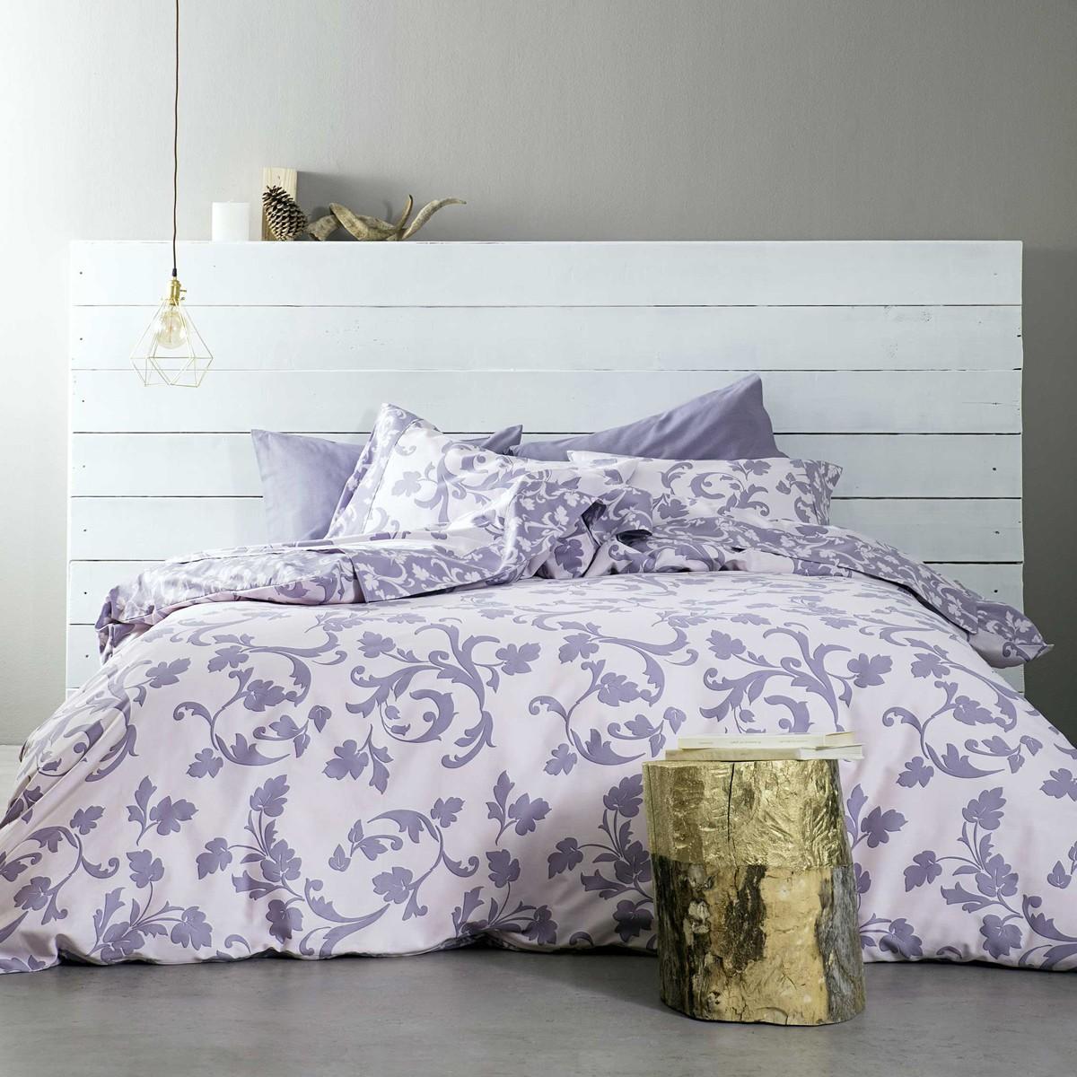 Σεντόνια King Size (Σετ) Nima Bed Linen Goia Purple