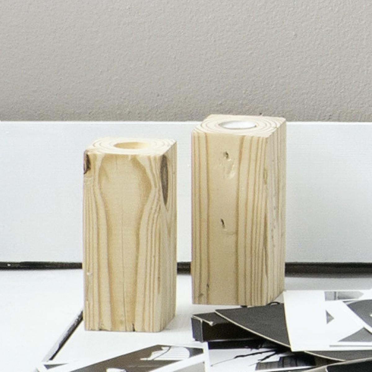 Κηροπήγιο (9x9x12) Nima Deco Ξύλο home   διακόσμηση   κηροπήγια   φαναράκια