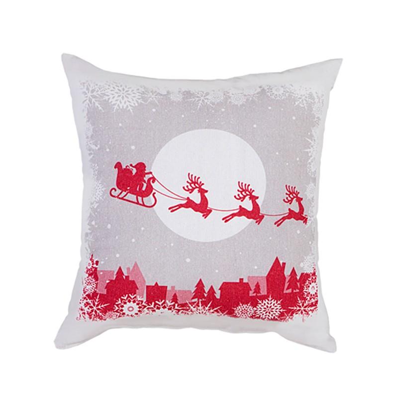 Χριστουγεννιάτικη Μαξιλαροθήκη Nima Holly Jolly home   χριστουγεννιάτικα   χριστουγεννιάτικα μαξιλάρια