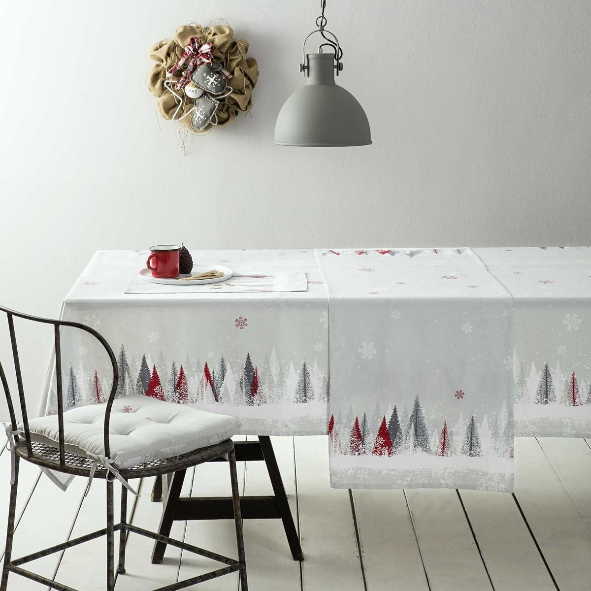 Χριστουγεννιάτικο Τραπεζομάντηλο (150×190) Nima Snowfall