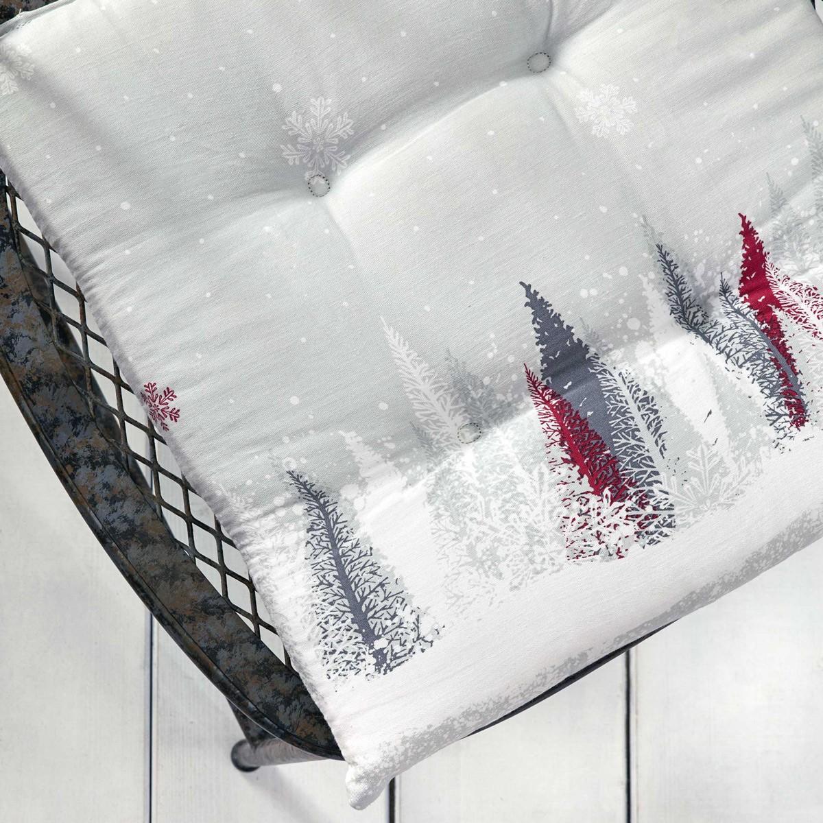 Χριστουγεννιάτικο Μαξιλάρι Καρέκλας Nima Snowfall