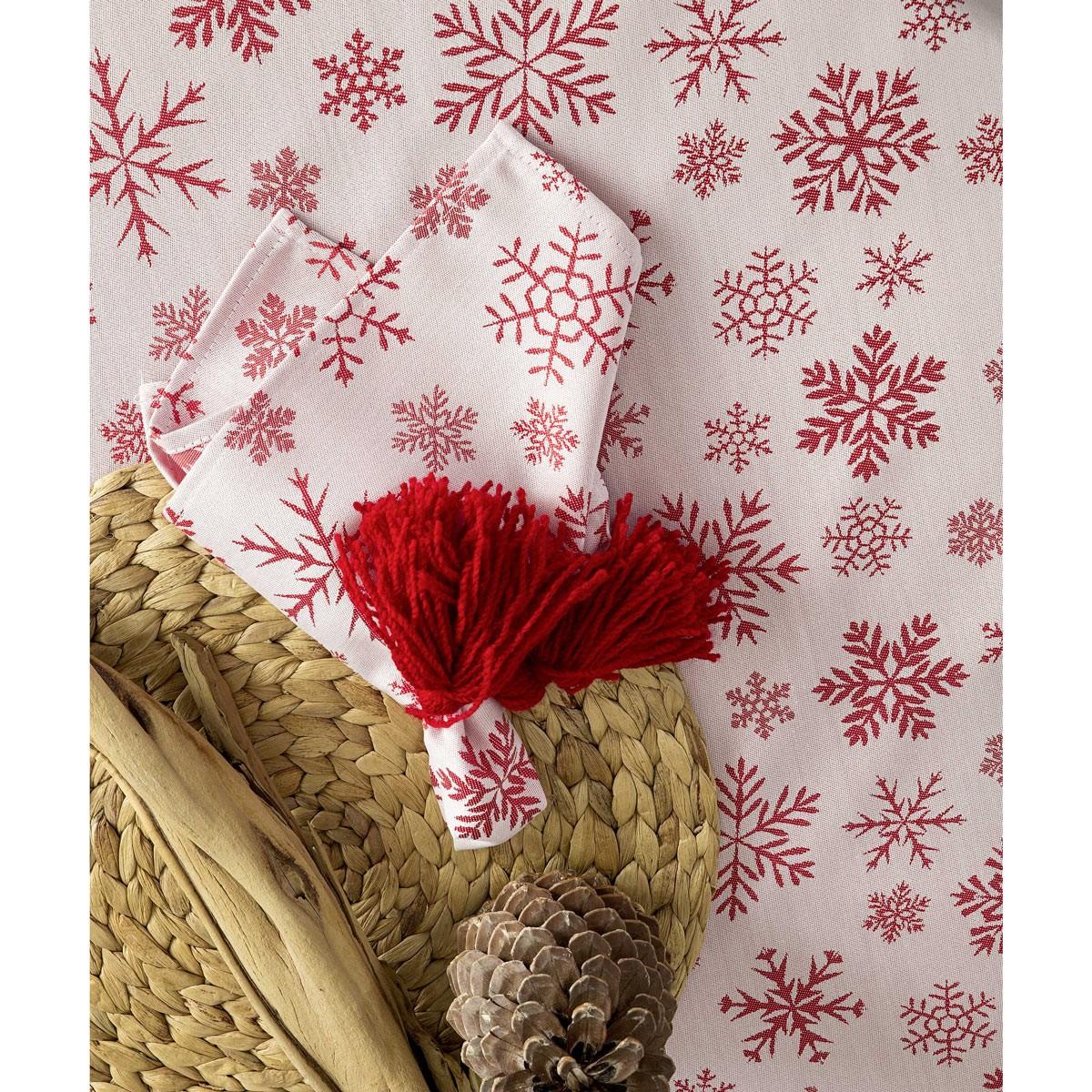 Χριστουγεννιάτικες Πετσέτες Φαγητού (Σετ 4τμχ) Nima Noel Red