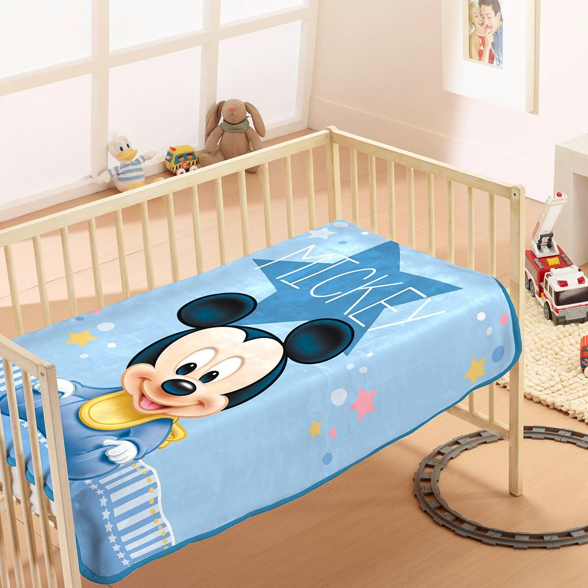 Κουβέρτα Βελουτέ Αγκαλιάς Dim Collection Mickey 8 78103