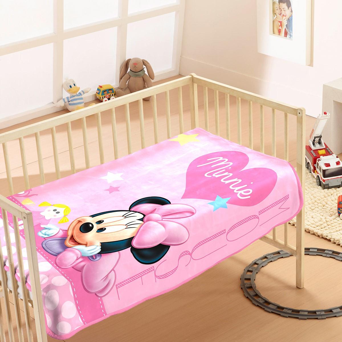 Κουβέρτα Βελουτέ Αγκαλιάς Dim Collection Minnie 9
