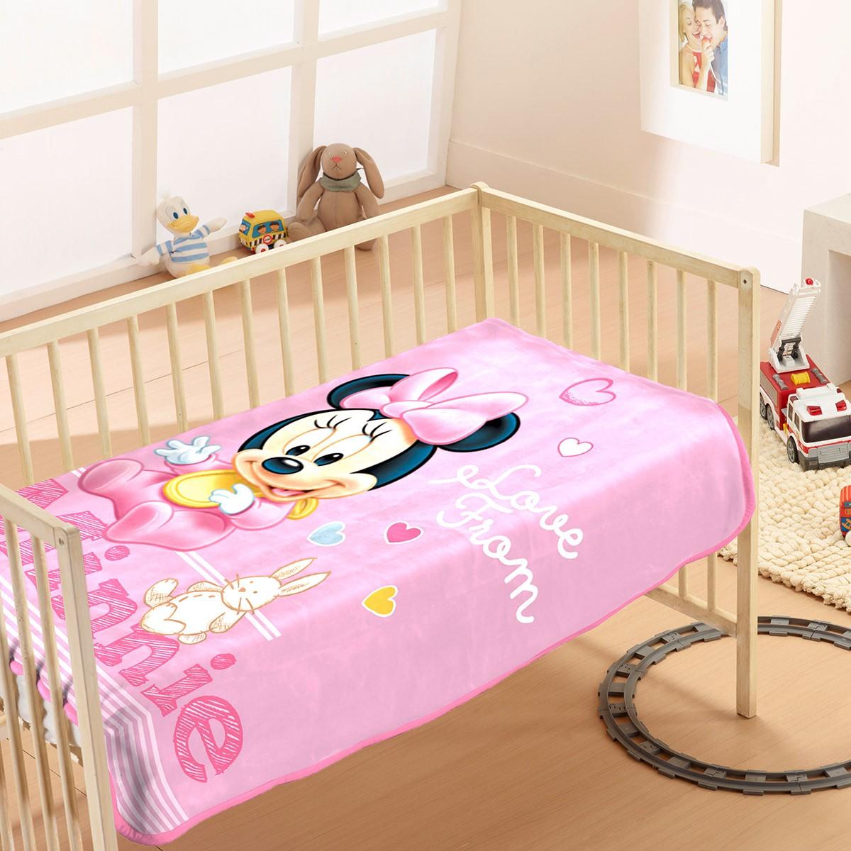 Κουβέρτα Βελουτέ Αγκαλιάς Dim Collection Minnie 10