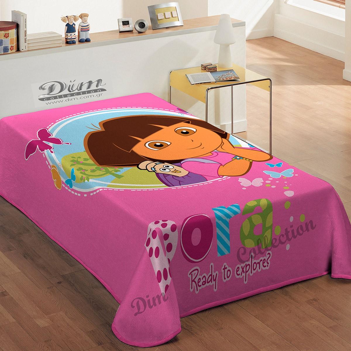 Κουβέρτα Βελουτέ Μονή Dim Collection Dora