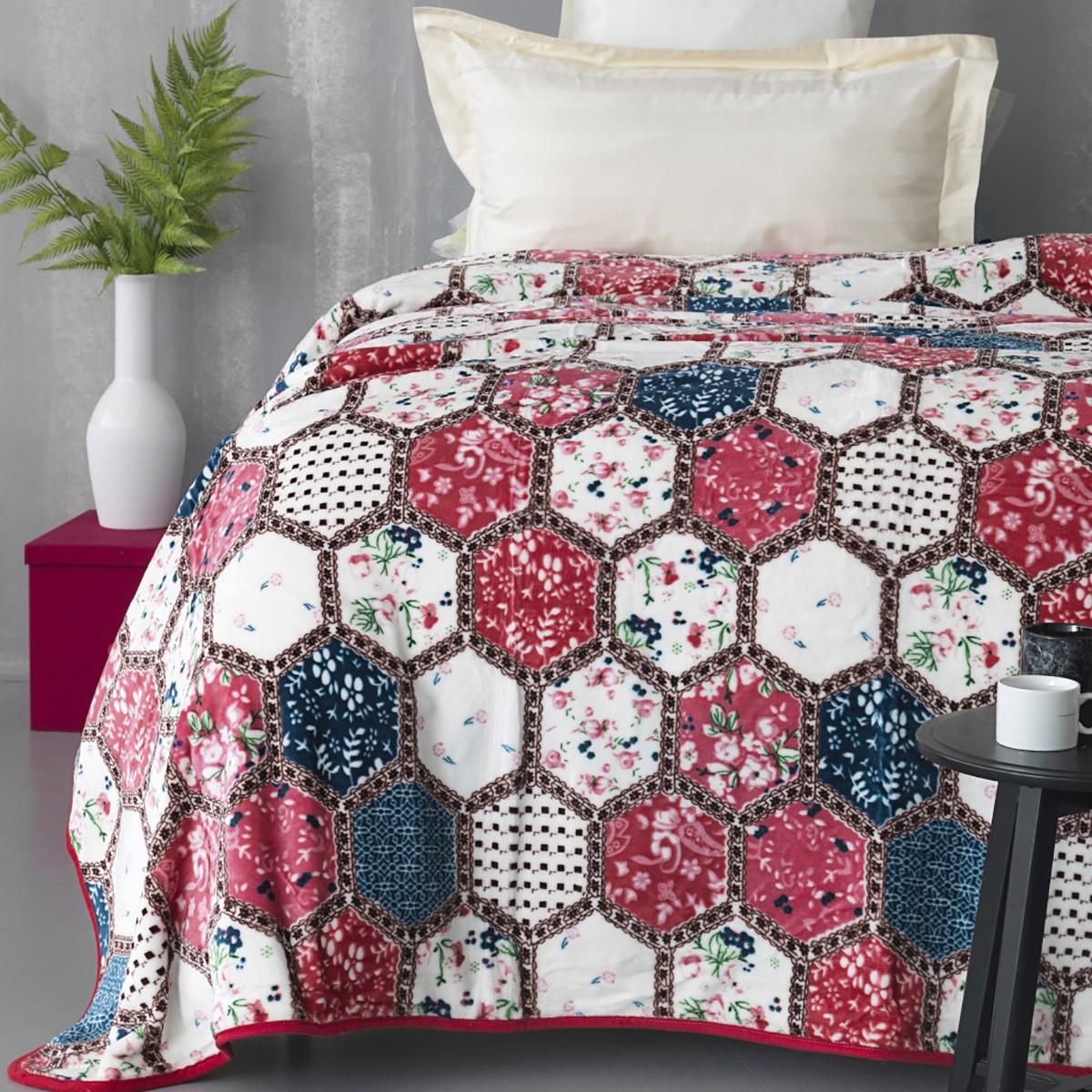 Κουβέρτα Fleece Μονή Palamaiki Silky 244 home   κρεβατοκάμαρα   κουβέρτες   κουβέρτες fleece μονές