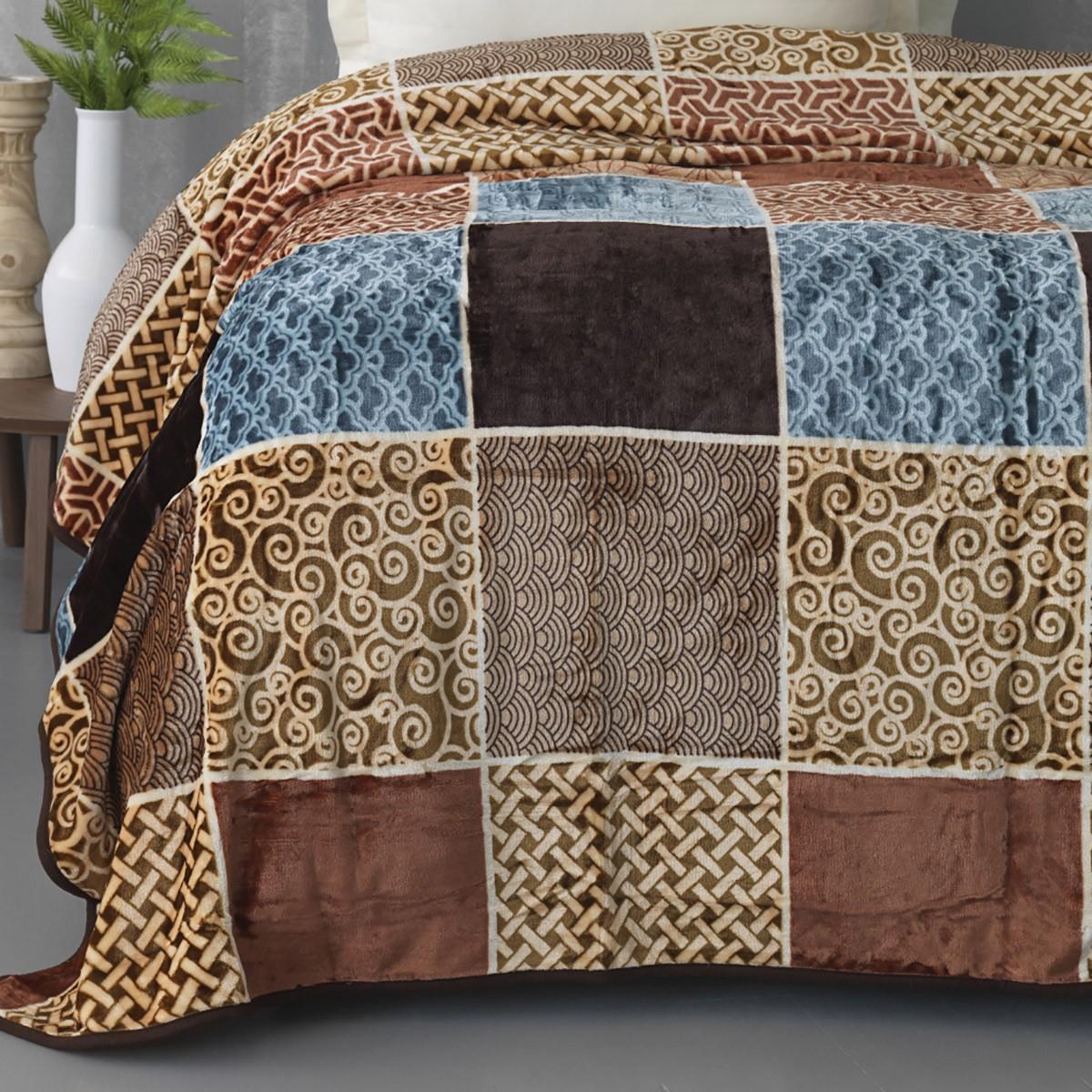 Κουβέρτα Fleece Υπέρδιπλη Palamaiki Silky 247