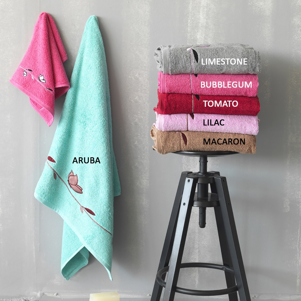 Πετσέτες Μπάνιου (Σετ 3τμχ) Palamaiki Towels Botanic