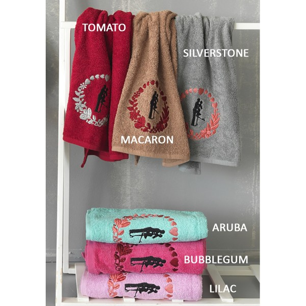 Πετσέτες Μπάνιου (Σετ 3τμχ) Palamaiki Towels In Love