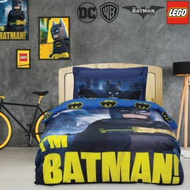 Παπλωματοθήκη Μονή (Σετ) Das Home Lego Batman 5003