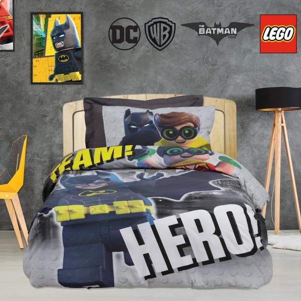 Παπλωματοθήκη Μονή (Σετ) Das Home Lego Batman 5004