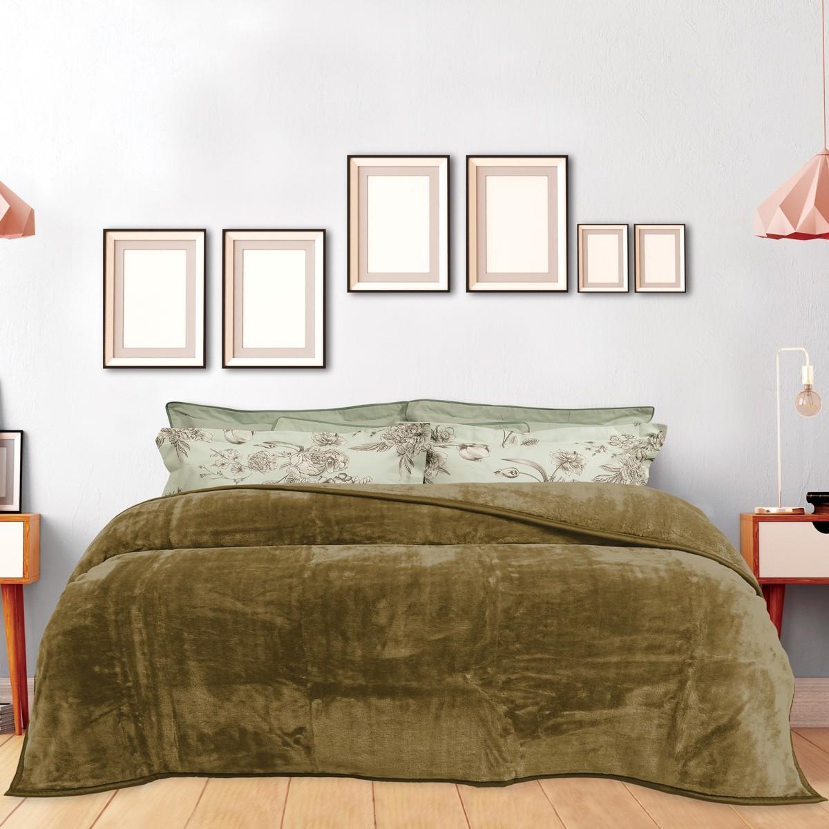 Κουβέρτα Βελουτέ Υπέρδιπλη Das Home Blanket Line Velour 392