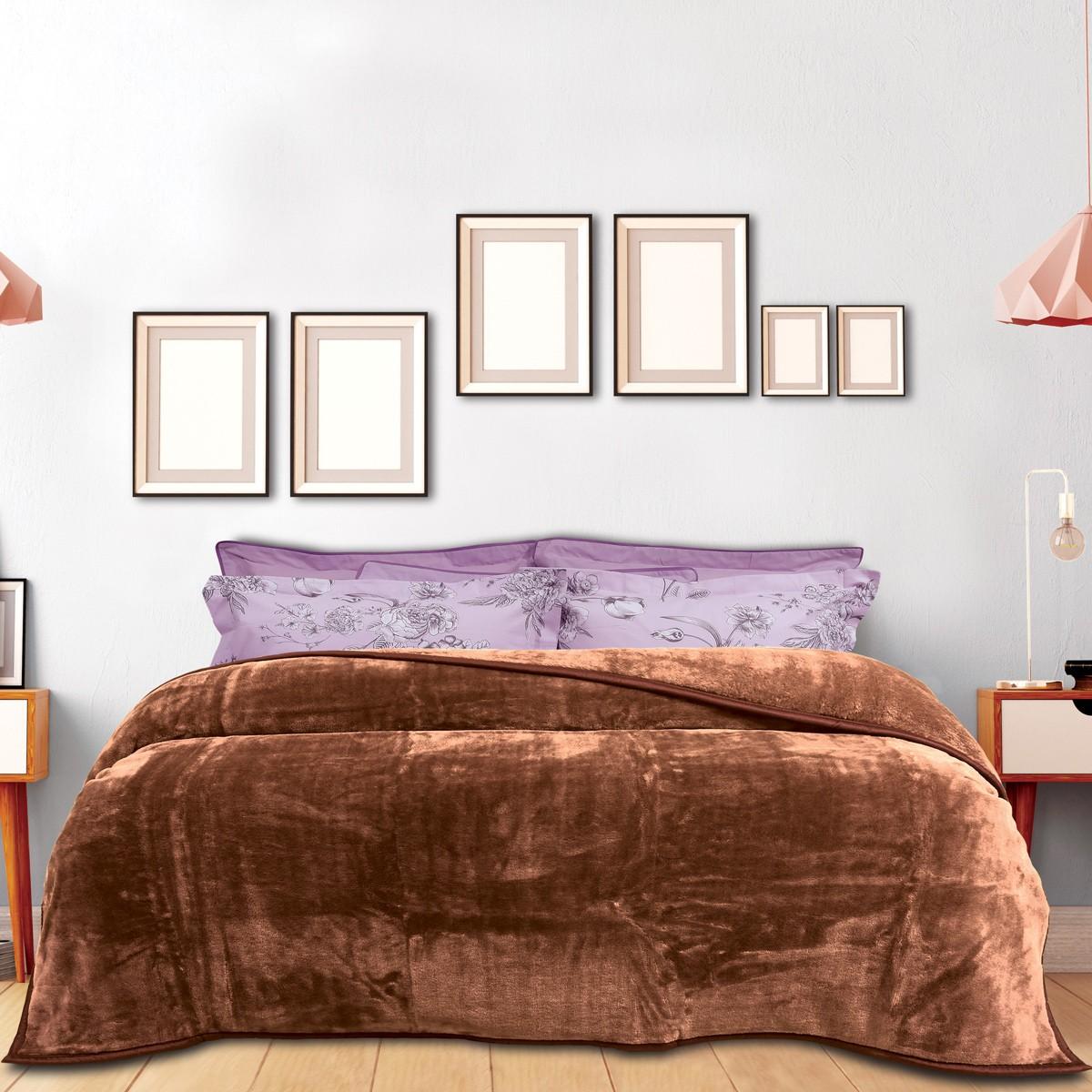 Κουβέρτα Βελουτέ Υπέρδιπλη Das Home Blanket Line Velour 393