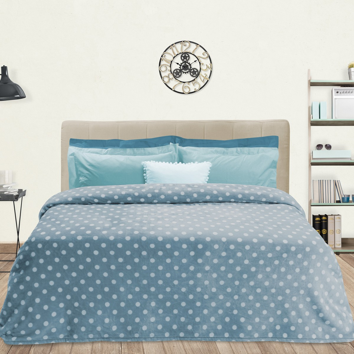 Κουβέρτα Fleece Υπέρδιπλη Das Home Blanket Line Prints 401