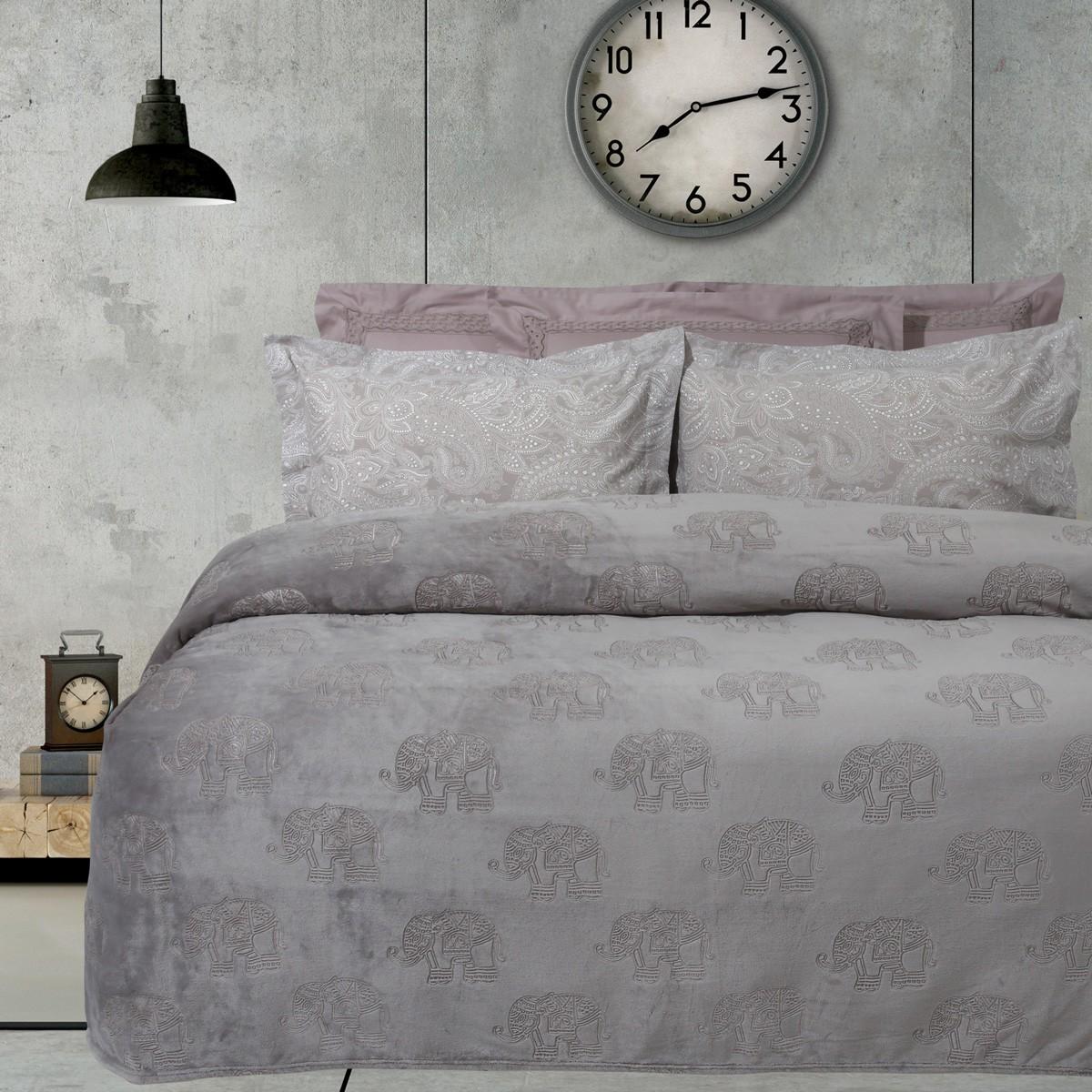 Κουβέρτα Fleece Υπέρδιπλη Das Home Blanket Line Embossed 404