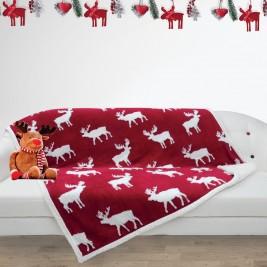 Χριστουγεννιάτικη Κουβέρτα Καναπέ Das Home 407