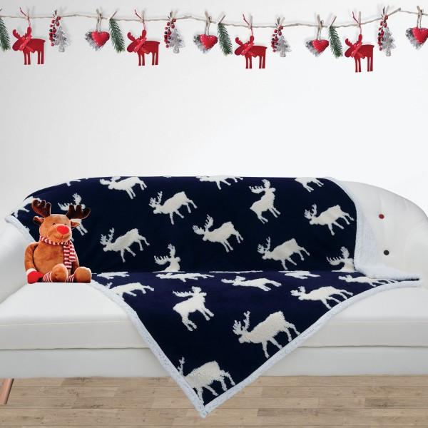 Χριστουγεννιάτικη Κουβέρτα Καναπέ Das Home 408