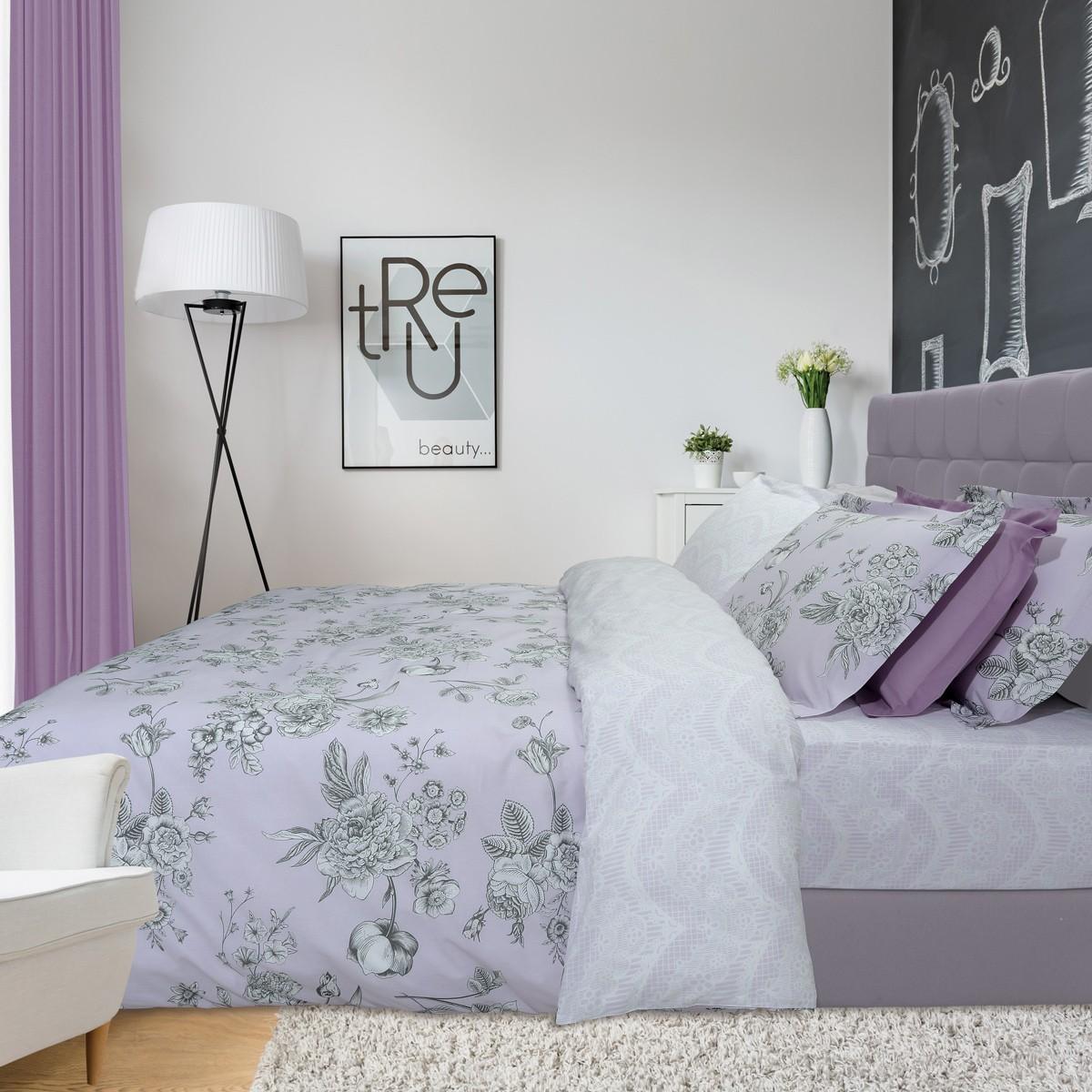 Σεντόνια Υπέρδιπλα (Σετ) Das Home Best Line Prints 4614