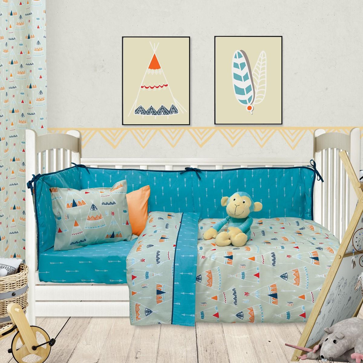 Παπλωματοθήκη Κούνιας (Σετ) Das Home Fun Prints 6417