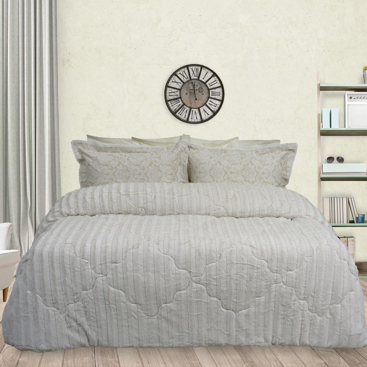 Κουβερτοπάπλωμα Υπέρδιπλο Das Home Blanket Faux Fur Fleece 1114