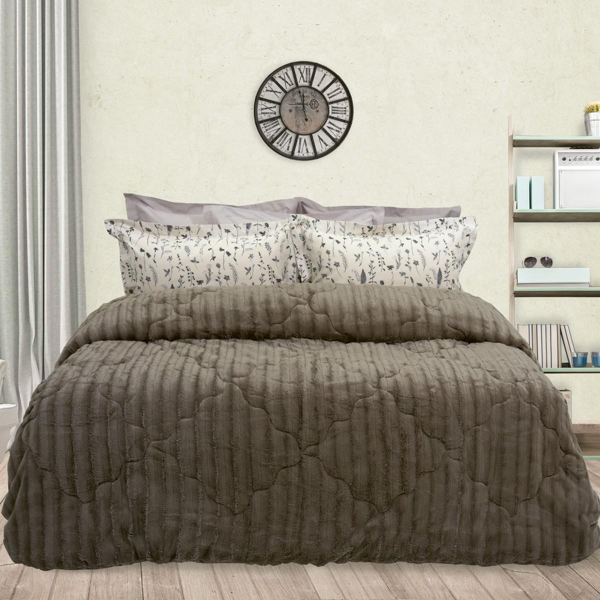 Κουβερτοπάπλωμα Υπέρδιπλο Das Home Blanket Faux Fur Fleece 1115
