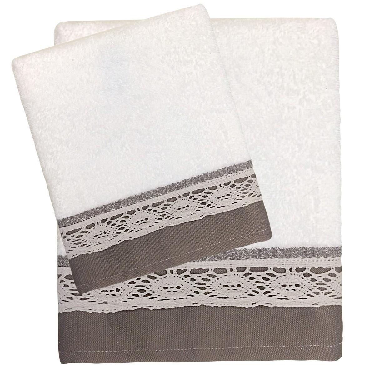 Πετσέτες Μπάνιου (Σετ 3τμχ) Das Home Happy Line 339