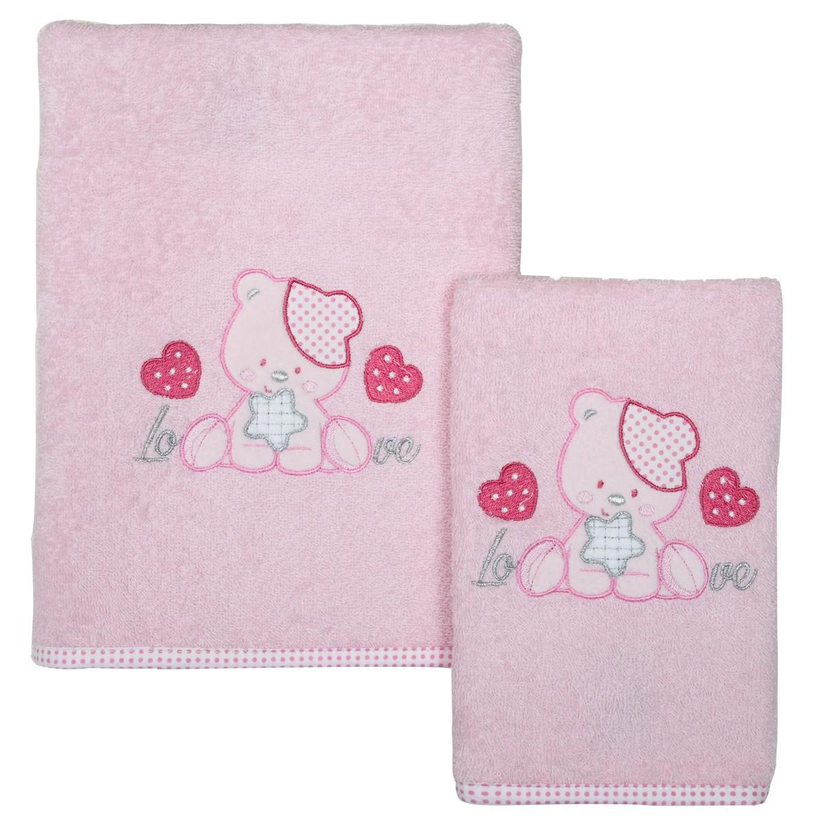 Βρεφικές Πετσέτες (Σετ 2τμχ) Das Home Smile Line 6433 78531