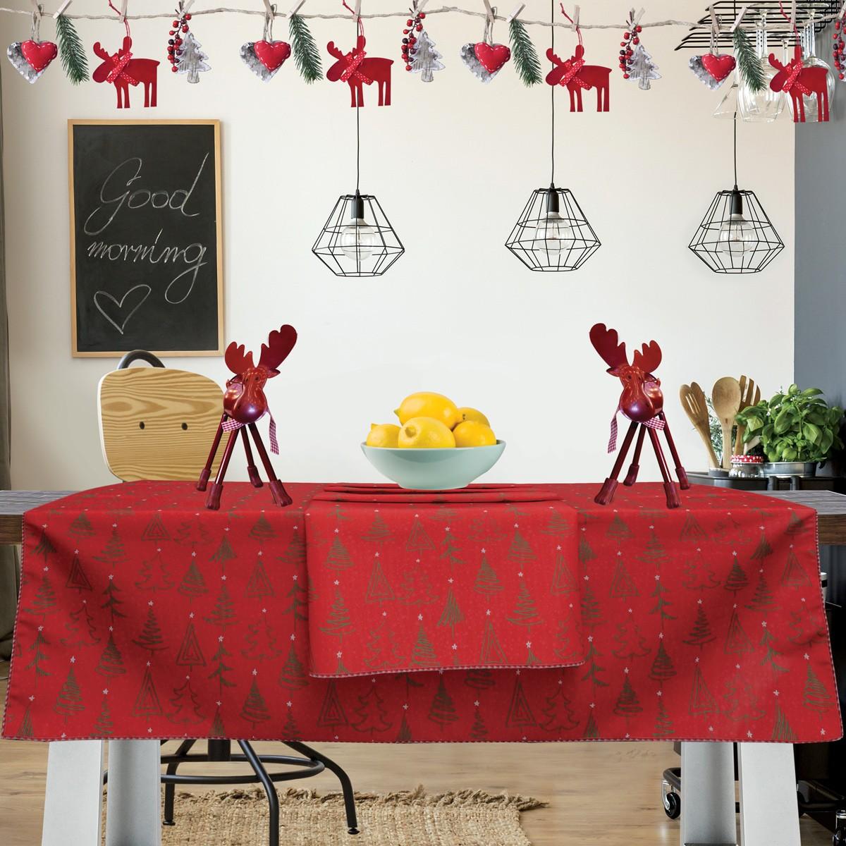 Χριστουγεννιάτικο Τραπεζομάντηλο (140×140) Das Home Kitchen 550