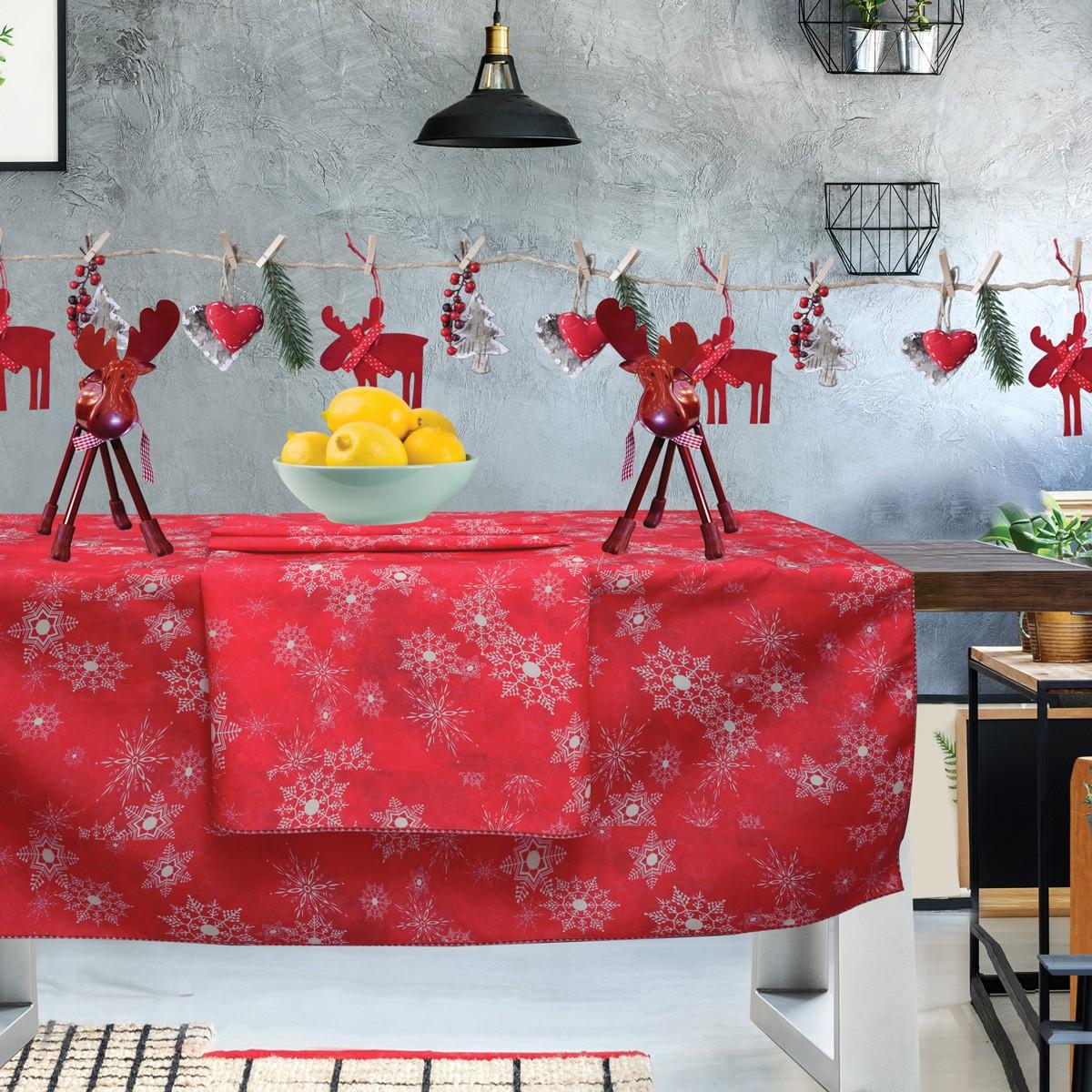 Χριστουγεννιάτικο Τραπεζομάντηλο (140×140) Das Home Kitchen 553