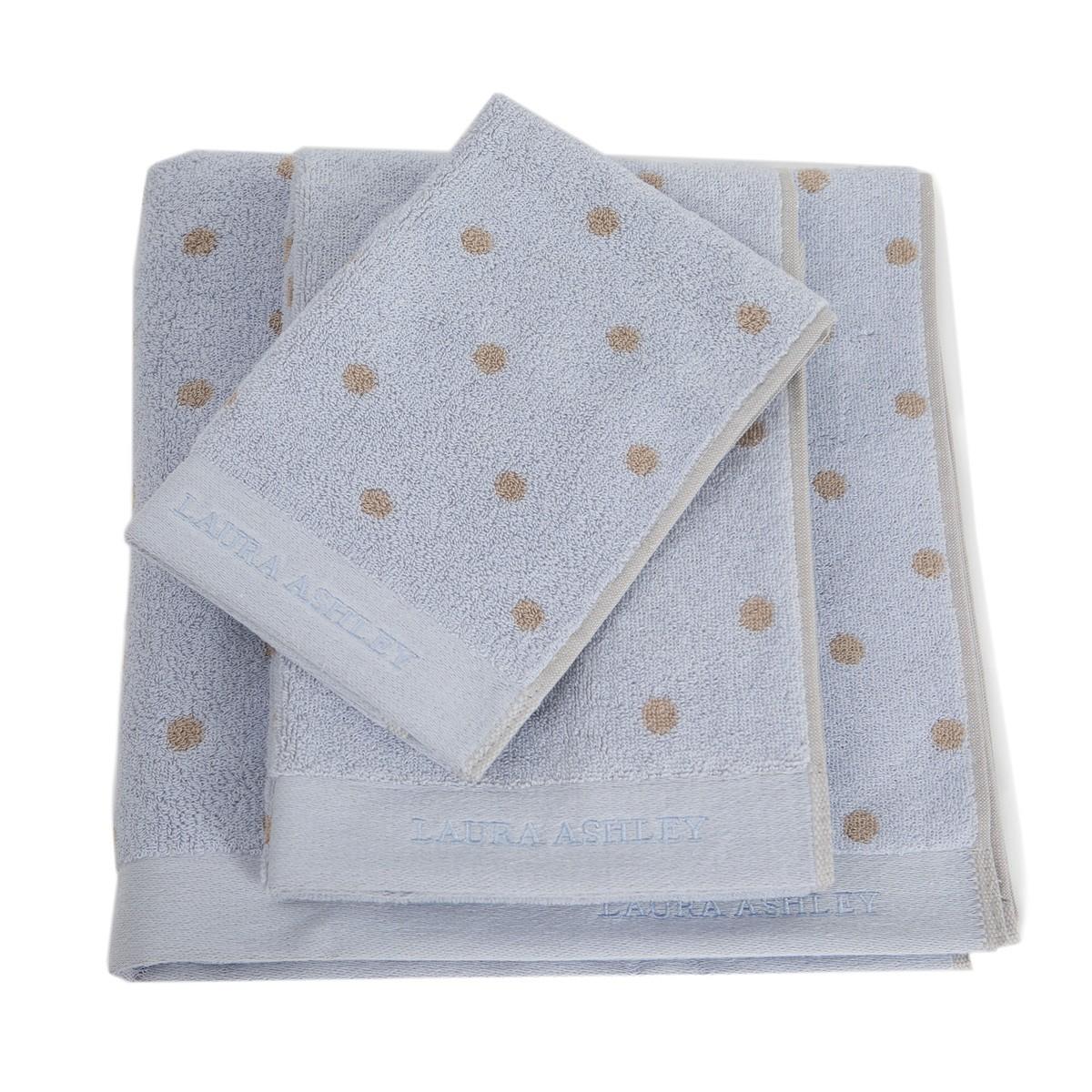 Πετσέτες Μπάνιου (Σετ 3τμχ) Laura Ashley Polka Ivory